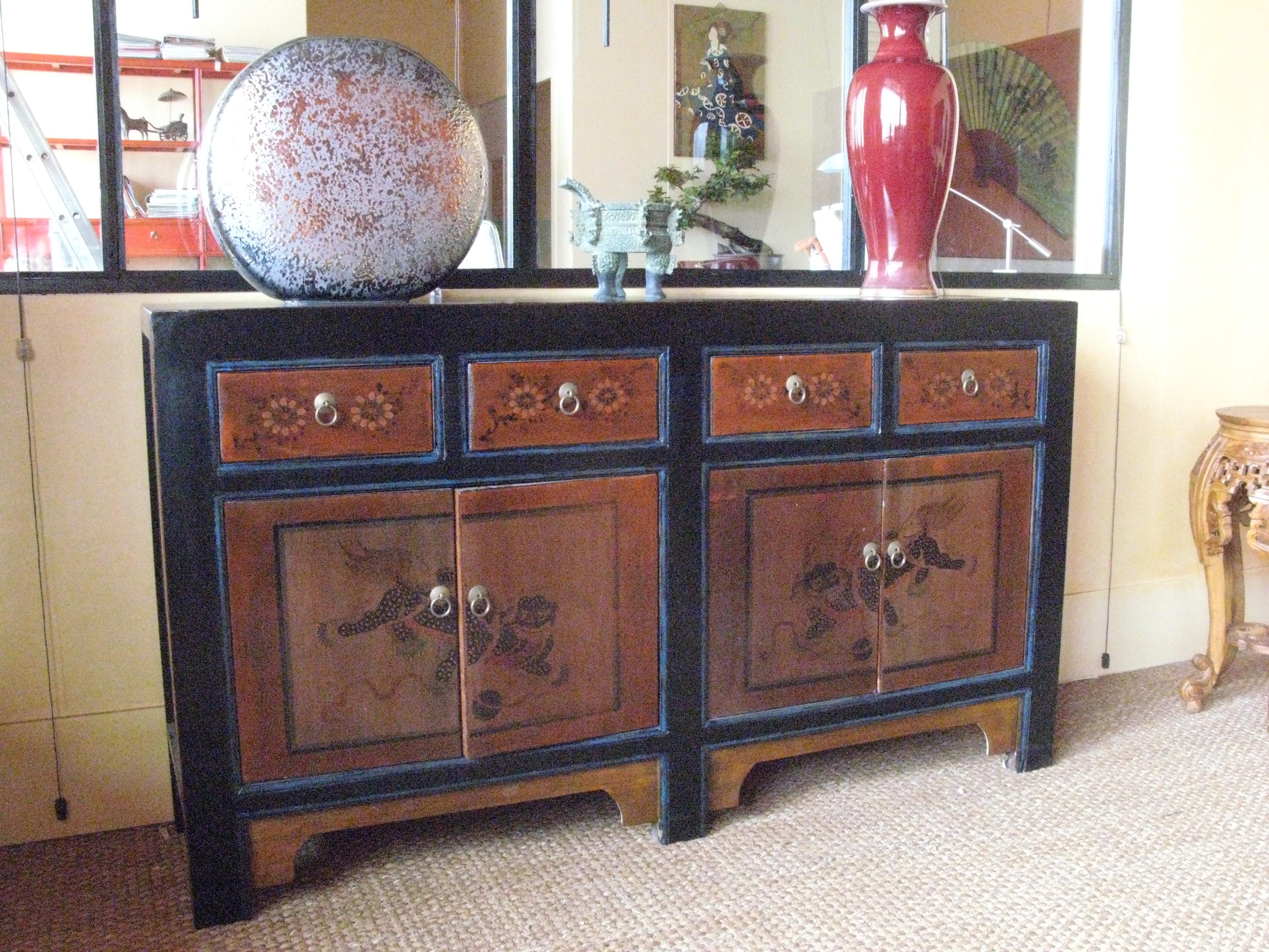 Bahut f 0 3 comptoir de java toulouse meubles for Meubles asiatiques anciens